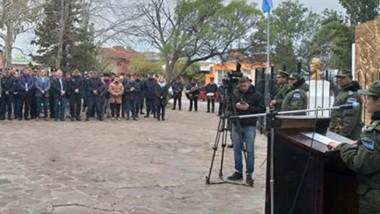 """La Agrupación XIV """"Chubut"""" de Gendarmería Nacional realizó ayer un acto recordatorio del General Martín Miguel de Güemes, ícono de la emancipación nacional."""