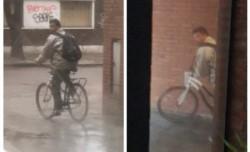 """El hombre de unos 25 años """"toca el timbre en los edificios"""" de la zona y """"se muestra masturbándose"""" y escapar en bicicleta."""