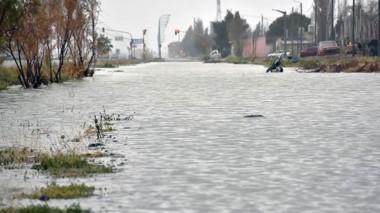 Algunas zonas de Trelew se vieron muy afectadas, pero no hubo grandes percances.