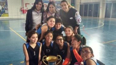 El equipo municipal de vóley femenino infantil de Trelew, se quedó con el segundo puesto en Comodoro.