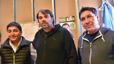 """Inquietos. El trío de la Lista Verde y Blanca aseguró que se prepara un """"fraude"""" para la elección."""