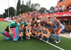La alegrías de las chicas argentinas que ahora van contra Australia por un lugar en la final.