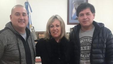 Artero mantuvo un encuentro con Diego Soler y Nery Navarro.