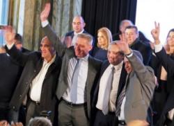 El inicio del Congreso Nacional Bancario tuvo el acompañamiento de gobernadores y precandidatos (foto Diario La Nación)