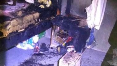Huellas. Una estufa casera desató el fuego en una precaria vivienda.