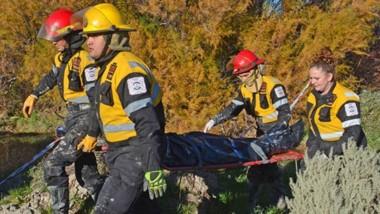 Ayer al mediodía, el cuerpo de Luis Méndez fue encontrado en un canal de riego entre Gaiman y Dolavon.