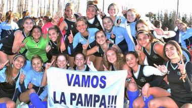 Festejo de La Pampa, tras vencer en la final de la Sub 16 a Río Negro.