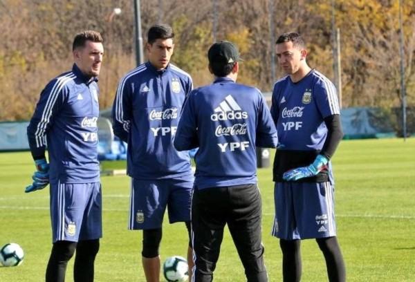 Andrada se sumó a los entrenamientos con la Selección Argentina pensando en la Copa América.