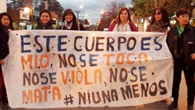 """""""Libres y vivas nos queremos"""" fue el lema elegido para acompañar la manifestación por el aniversario."""