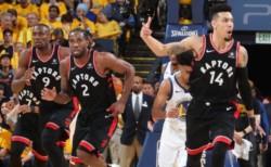 Con una soberbia actuación de Kawhi Leonard, los Raptors vencieron 124-109 en condición de visitante a los Warriors y pusieron la serie 2-1 en su favor.