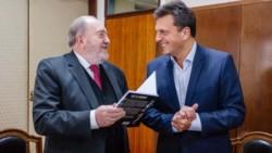 El gobernador y el líder del Frente Renovador,, durante la presentación de un libro, hace unos meses.