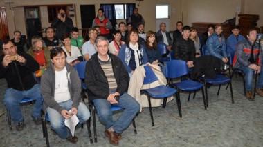 Conmemoración. El local del Sindicato de Obreros y Empleados Municipales de Esquel fue la sede del acto.