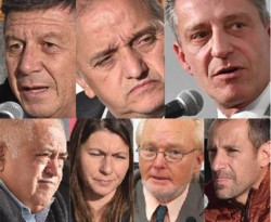 Todas las opciones. los 7 candidatos que se presentarán para disputarse la gobernación en la provincia durante las elecciones Generales y definitivas del día de hoy.