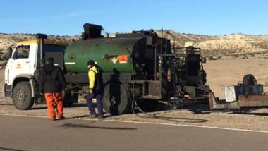 Se realizó el mantenimiento del asfalto en la pista del autódromo.