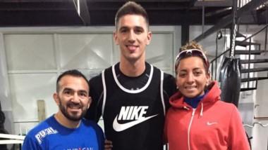 Omar Narváez, Nicolás de los Santos y Vanshi Thomas, juntos ayer.