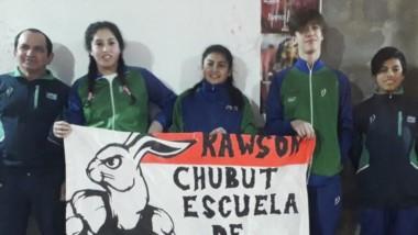 Brisa Santana, Milagros Higueras, Máximo Barroso, Ariel Proboste y Alexis Verón, representan a Chubut.