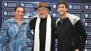 Carlos Portas, Othar Macharashvili y Juan Torres, en la presentación.