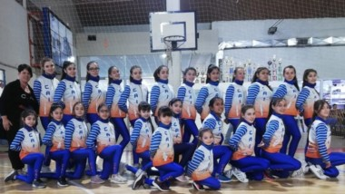 Las chicas de Patín Artístico de la CAI participan en la 2ª fecha.