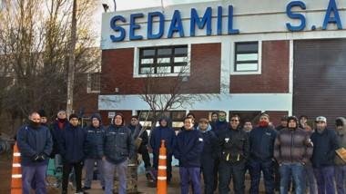 La protesta llevada adelante por los trabajadores de Sedamil.