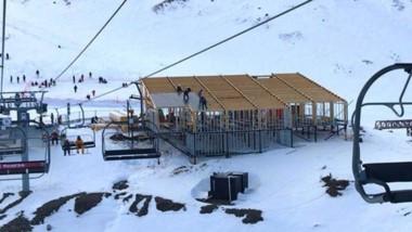 La construcción de la confitería en el Centro de alta Montaña avanza a buen ritmo