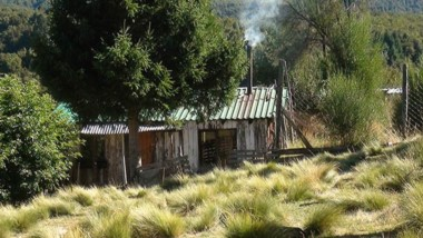 En este lugar vivió Alvarado en El Foyel.