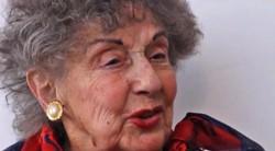 Mafalda Abraham falleció a los 92 años (imagen captura Canal 12)
