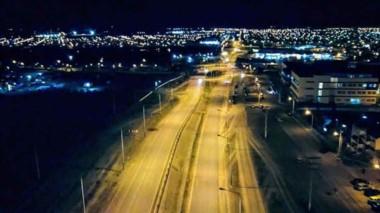 Plan en marcha. En Trelew se  renovará la iluminación de todas las rotondas y principales accesos a la ciudad.