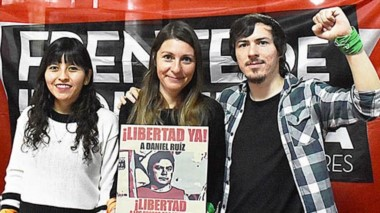 Gloria Sáez encabezó la presentación del Frente de Izquierda Unidad en Trelew.