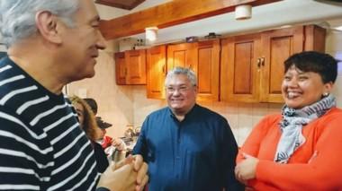 Béliz mantuvo una nutrida agenda, con diferentes reuniones, en su paso por Sarmiento.