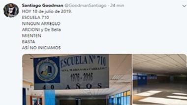 En su cuenta de Twitter Goodman dejó un mensaje contundente.