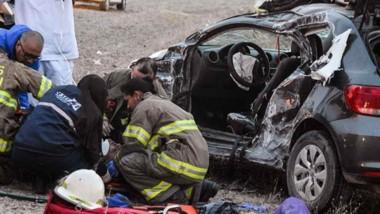 El violento siniestro implicó a un camión Fiat Iveco, perteneciente a  una distribuidora local.