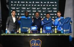 Los tres refuerzos de Boca: Salvio, Hurtado y Mac Allister presentados de manera oficial.
