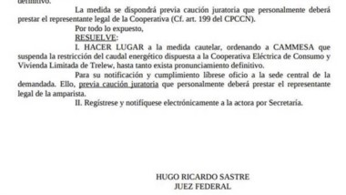 La resolución del juez Federal Hugo Sastre.