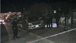 El hombre fue encontrado muerto dentro de la camioneta (foto @ADNSur)
