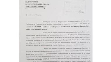 La notificación de la Federación que le llegó a los intendentes.