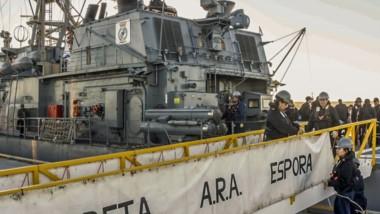 La Corbeta de la Armada Argentina se podrá visitar durante hoy y mañana de  14 a 18 horas.