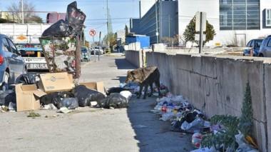 Rawson, en medio de la mugre. La basura en las calles como muestra de la crisis.