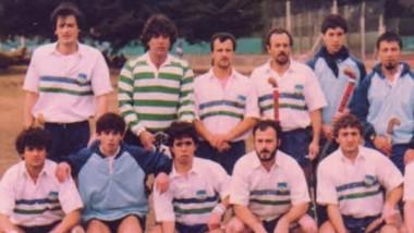Esta imagen corresponde al Torneo Regional de 1988 en Tandil, un año antes de ser locales en Trelew y ser campeones por primera vez del Regional.