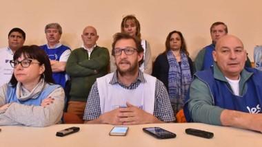 Uniendo fuerzas. En conjunto los gremios de la Mesa de Unidad Sindical brindaron una conferencia de prensa para anunciar el paro de 48 horas.