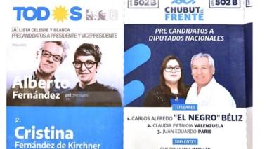 Insólito. La boleta de adhesión fue presentada con imágenes de fantasía en la categoría presidencial.