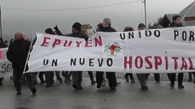 La comunidad de Epuyén movilizada para conseguir un nuevo hospital.