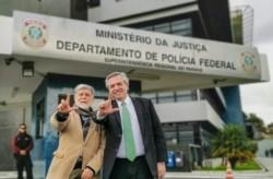 Fernández con Celso Amorim.
