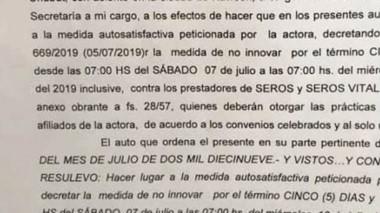 Fallo. Tras la medida judicial el juez universal notificó a la FEMECh.