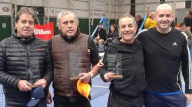 Los finalistas de +50 Aristimuño-Angulo y Sánchez- Eckhardt.