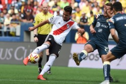 Julián Alvarez y Cristian Ferreira, goleadores ante América que piden pista en River.