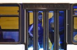 El astro rosarino llegó el sábado a la noche a la ciudad tras el escándalo en la Copa América.