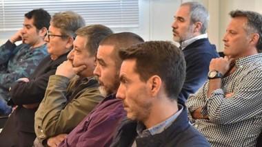 Seriedad. Parte de los imputados por la asociación ilícita durante una de las audiencias. Se espera que el primer semestre de 2020 se haga el juicio.