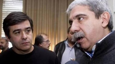 Dúo. Meiszner (izquierda) en sus tiempos con Aníbal Fernández.