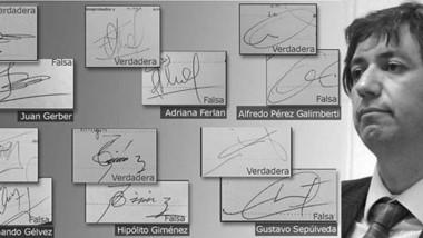 Truchas. Algunas de las firmas falsificadas en los libros de actas y Pablo Pugh (foto), el único procesado en una causa resonante.