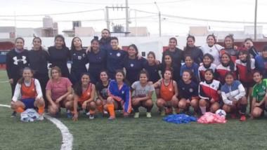El test, realizado en la cancha de J.J. Moreno, estuvo reservado para las futbolistas de Puerto Madryn.